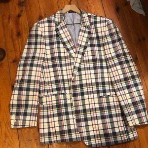 Plaid sport coat
